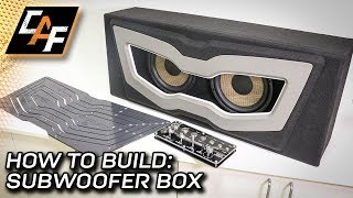 How to Build Subwoofer Box - Carbon Beauty Panel & Eco Tray