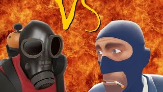 TF2 bot battle 21 : Pyro VS Spy