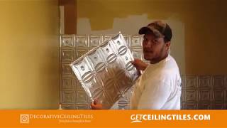 How to install Tin Tile Backsplash in your Kitchen