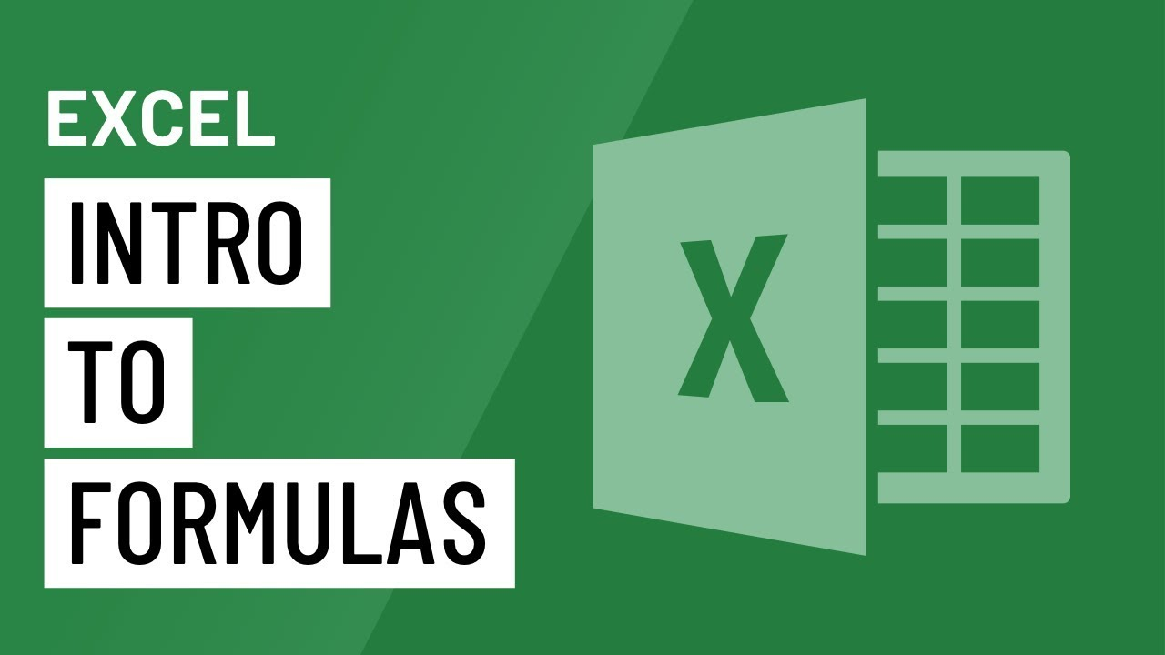 Excel: Intro to Formulas