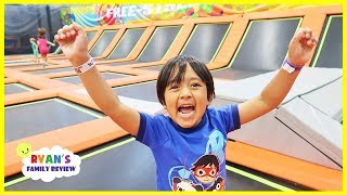 Trampoline Park Challenge Family Fun Playtime with Ryan!!!