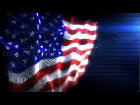 American Flag - Royalty Free Background Video Loop
