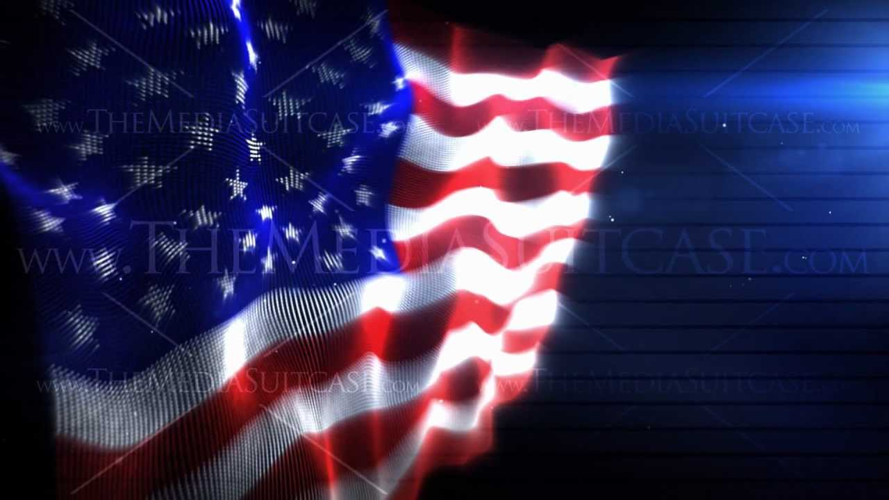 Church Motion Background American Flag Loop 6