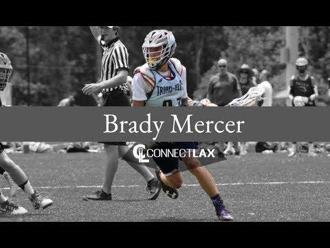Brady Mercer Lacrosse Highlights | NC 2021 | Att, Mid, Faceoff