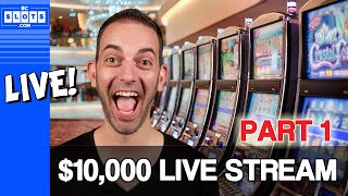 🔴LIVE $10,000 Casino Live Stream in Vegas - 150K SUBS ✪ BCSlots - PART 1
