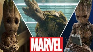 Groot Evolution in Movies and Cartoons (2019)