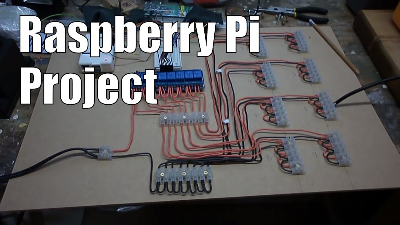 Raspberry Pi: Automated lighting control using 8 channel relay and PIR motion  YouTube