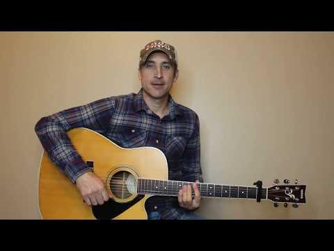 Borrowed Time - Jon Pardi - Guitar Lesson | Tutorial