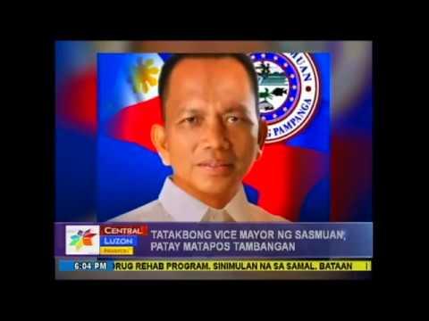 Tatakbong Vice Mayor ng Sasmuan, patay matapos tambangan