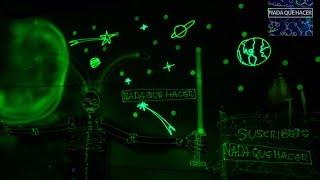 Como hacer pared fosforescente que brilla en la oscuridad | NQUEH