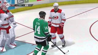 NHL 14: Dallas Stars vs Carolina Hurricanes (Both New Uniforms!) - 1st Period Gameplay