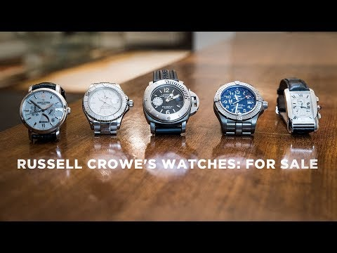 Russell Crowe on the stories behind his watches, and why he's selling them