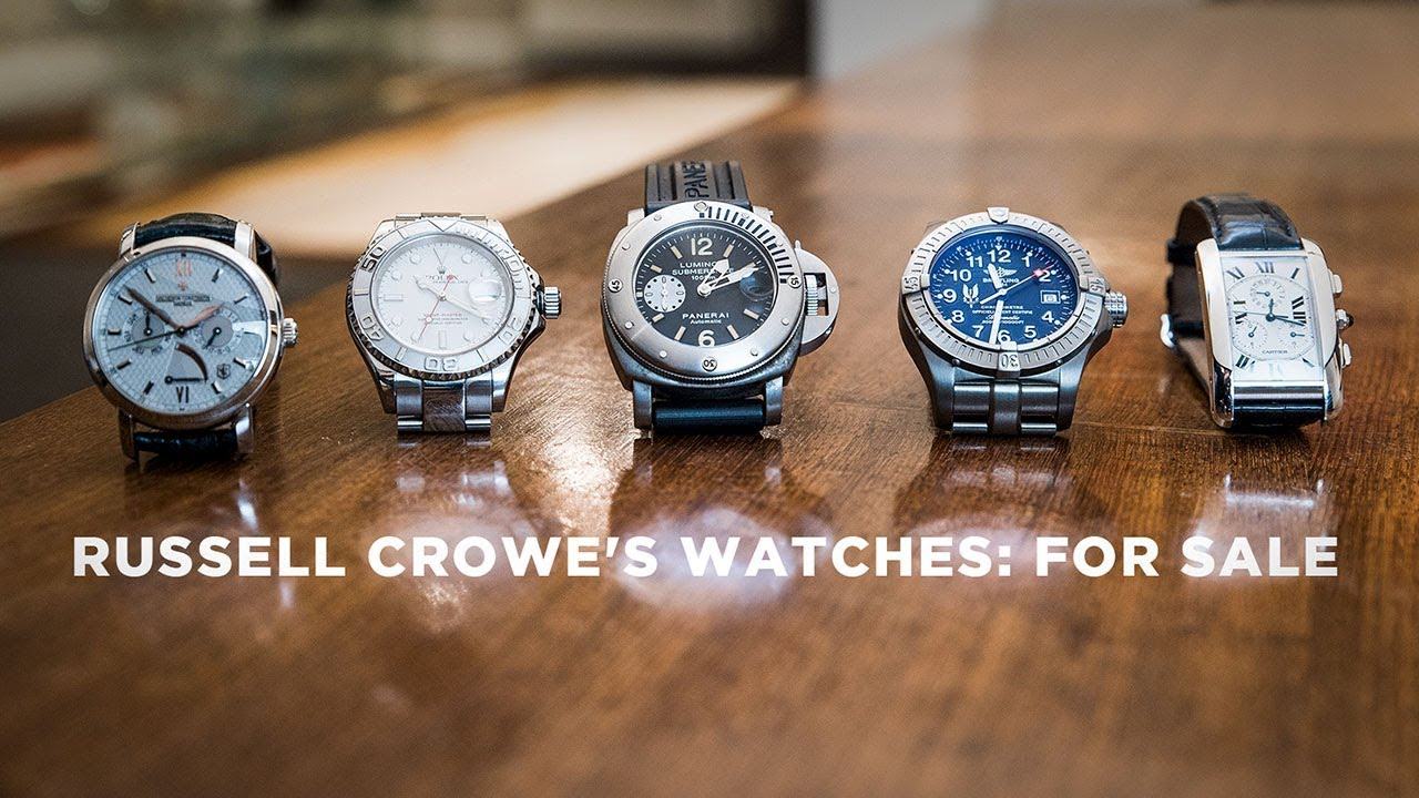 Download Russell Crowe on the stories behind his watches, and why he's selling them