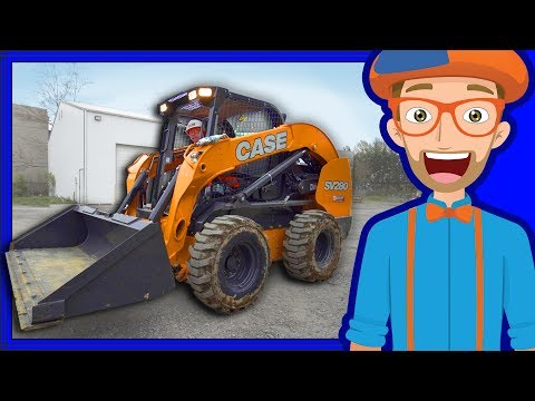 Thumbnail: Construction Vehicles for Kids with Blippi | Skid Steer