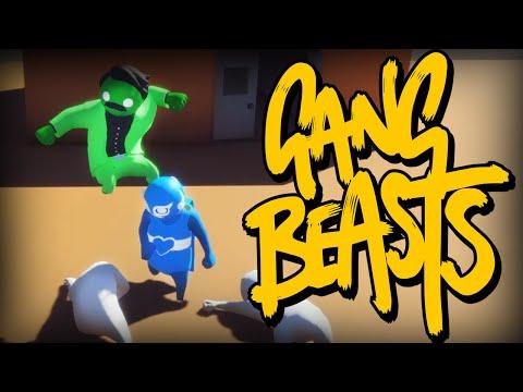 Gang Beasts - ОБЗОР ИГРЫ (Брейн и Даша)