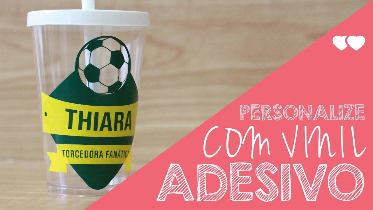 DIY - Copo da Copa personalizado com vinil   Thiara Ney - YouTube 5ca539014d