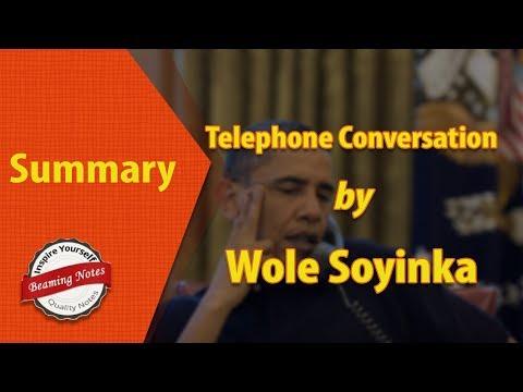 Summary Of Telephone Conversation by Wole Soyinka