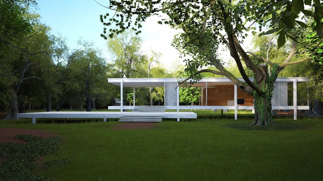 making of farnsworth house in speed motion youtube