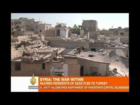 Injured Aleppo residents flee to Turkey