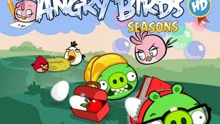 Angry Birds Seasons - Back to School Golden Eggs Walkthrough