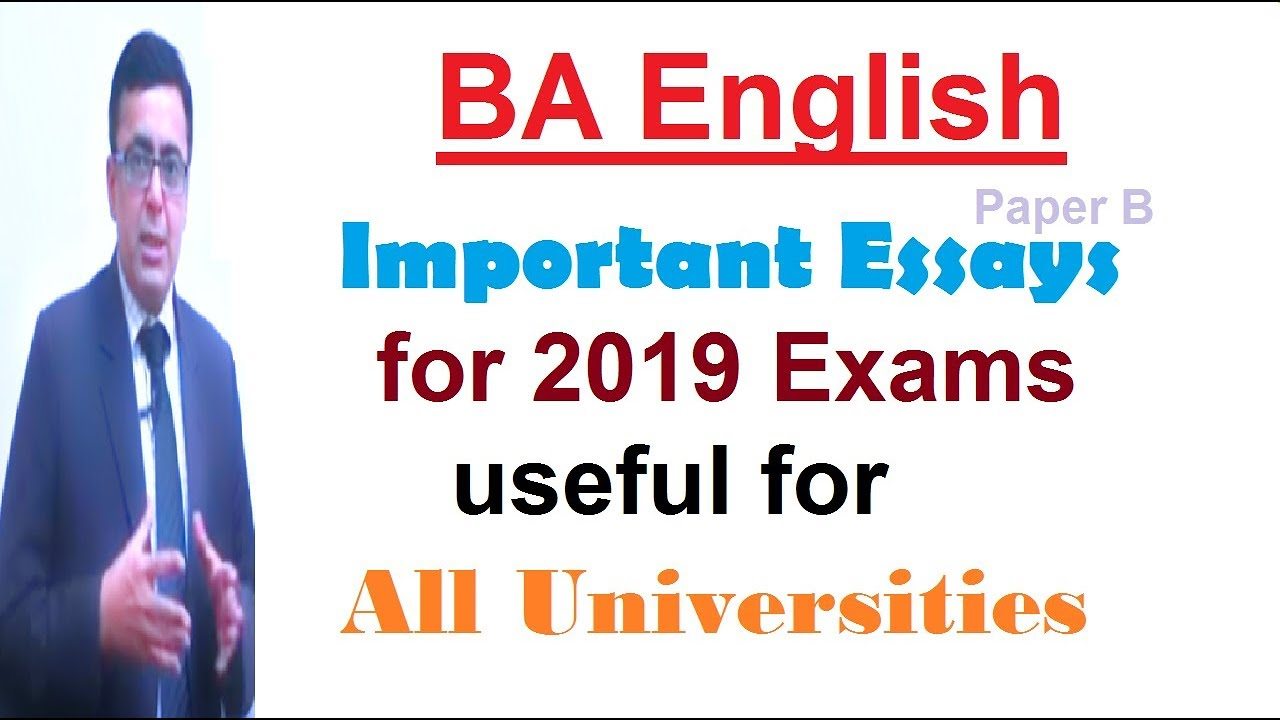 ba english important essays topics for all universities exams to be  ba english important essays topics for all universities exams to be held  in april