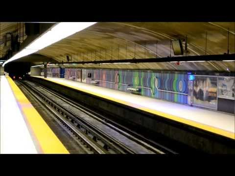 MONTREAL STM METRO TRAINS - FABRE STATION