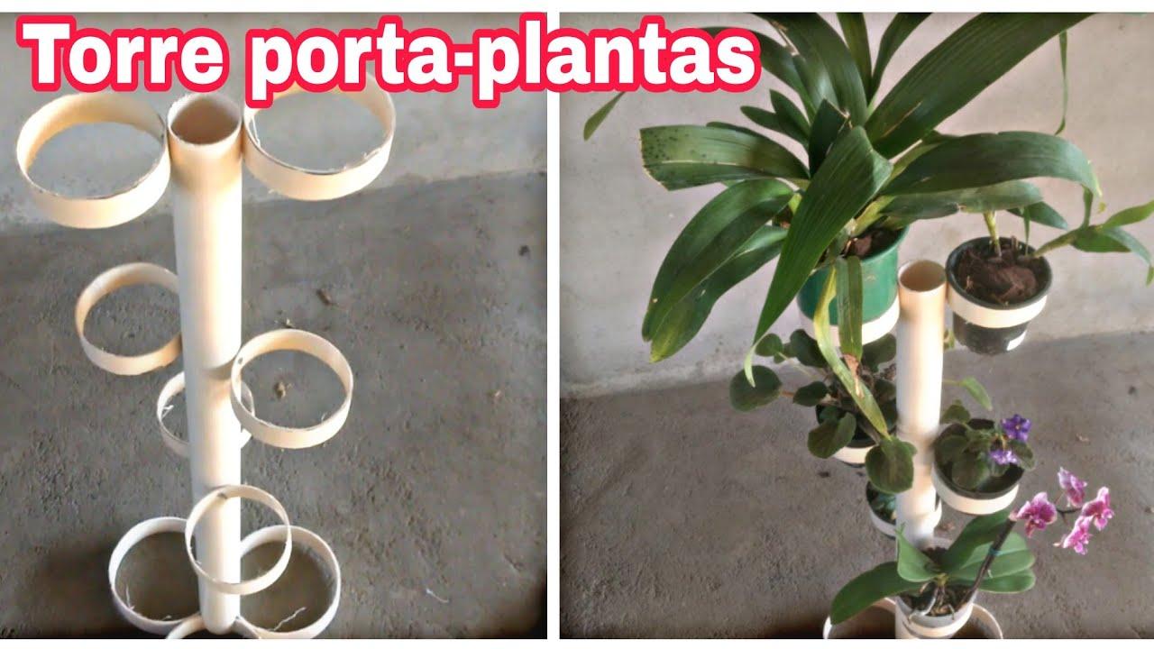 Suporte Para Plantas Feito Com Cano Pvc Youtube