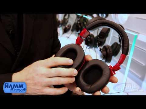Audio Technica ATH-M50 Red Professional Studio Headphones (ATH-M50RD)   NAMM 2013