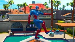 *CAPTAIN AMERICA* in Fortnite..?! Custom Fortnite Skin Showcased with Emotes!