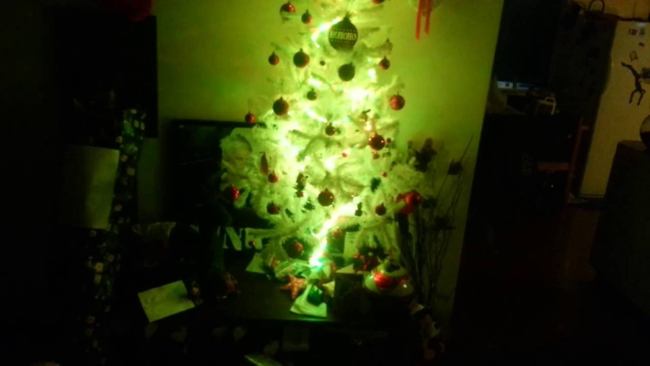 White christmas tree LED strip lights - YouTube