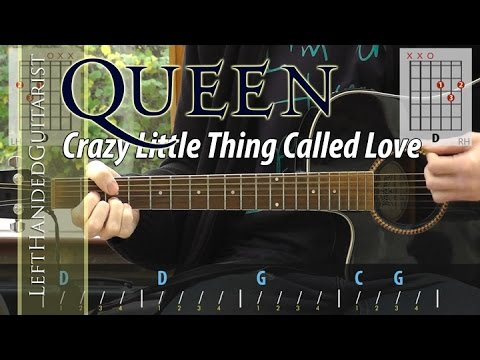 Queen - Crazy Little Thing Called Love acoustic guitar lesson
