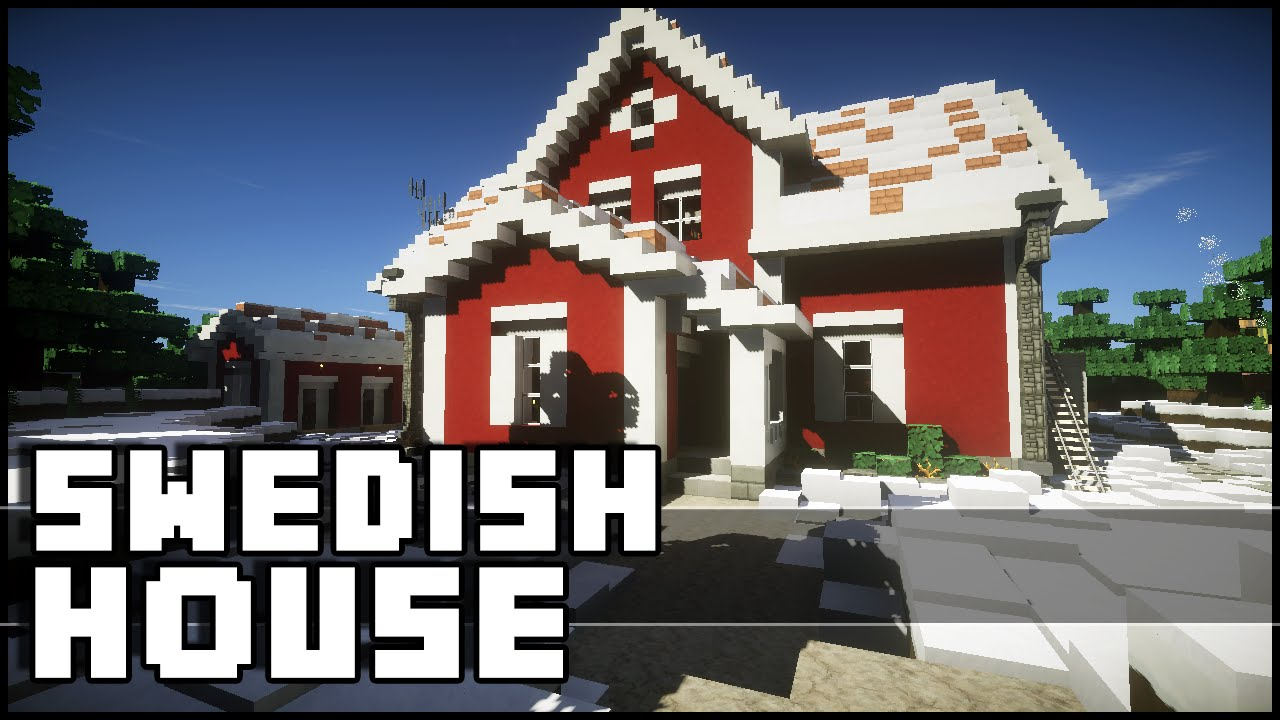 Minecraft Christmas Houses.Minecraft Swedish Christmas House