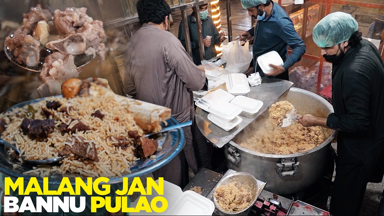 Meat Heaven | Malang Jan Bannu Pulao, Isb | Dumba Namkeen Gosht, Chapli Kabab | Street Food Pakistan