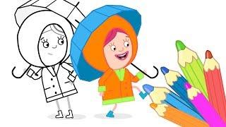 Мультик Раскраска - СМАРТА - Дождевик - Развивающие мультики для малышей - Учим цвета