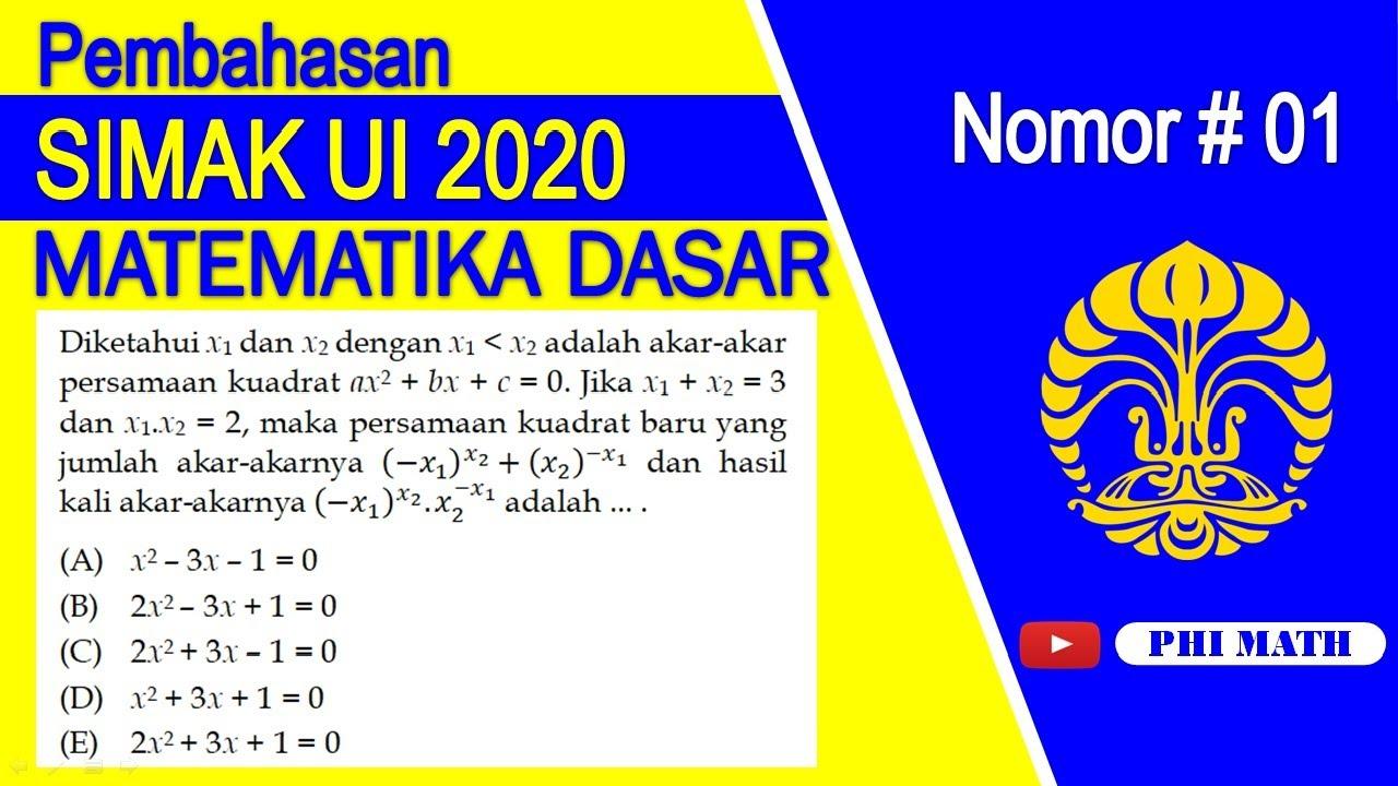 Hasil perkalian semua bilangan yang memenuhi 3√x=21+3√x adalah …. Pembahasan Simak Ui 2018 Matematika Dasar 12invers Fungsi Youtube