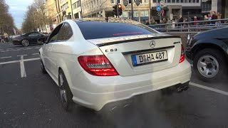 Mercedes C63 AMG - 4.0L V8 vs 6.2L V8 Engine SOUNDS!