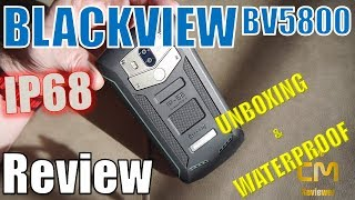Blackview BV5800 : Unboxing & Waterproof - Unboxing  & Wassertest (D...