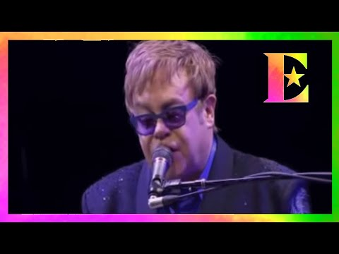 Elton John -  Mona Lisas And Mad Hatters (Live - Daniel Pearl tribute)
