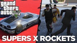 GTA V - Rocket x Carro Super, o Boliche Com os CARROS NOVOS do Cassino