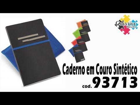 Caderno em Couro Sintético 93713 Personalizado - Criative Brindes