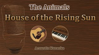 House Of The Rising Sun - The Animals (Acoustic Karaoke)