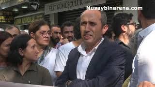 Nusaybin'de KESK'in basın açıklamasını, Bir vatandaş Türk Bayrağıyla tepki gösterdi!