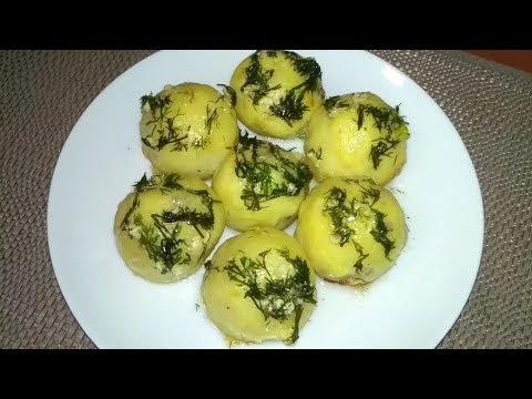 Картофельные шарики с грибами. Постное блюдо