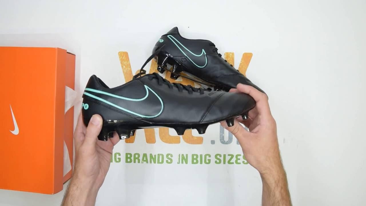 2796e001e18 Nike Tiempo Genio Leather II (FG) - Black   Turquoise - Walktall ...