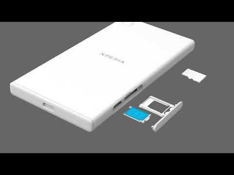 Insert a SIM card and a memory card – Xperia XZ1 Compact