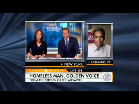 Homeless Radio Announcer Ted Williams on CBS - NEW VIDEO INTERVIEW (Original Video)