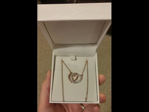 "J.NINA ""Guardian of Love"" Rose Gold Plated Necklace, Made with Swarovski Crystals"