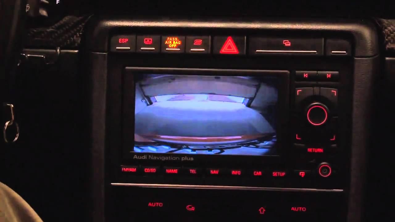 ECS Tuning: Audi B7 RS4 Reverse Camera Kit Demonstration - YouTube