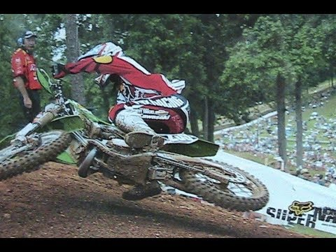 2003 MX 125cc Budds Creek Race James Stewart Dead Last to First