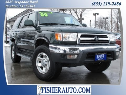 2000 Toyota 4Runner SR5 green | $8,900* | Boulder, Colorado | Fisher Auto (Stock #135217A)